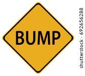 bump warning sign | Shutterstock .eps vector #692656288