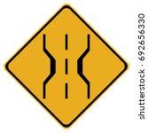 us road warning sign  narrow...   Shutterstock .eps vector #692656330