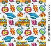 back to school. colorful... | Shutterstock .eps vector #692657770