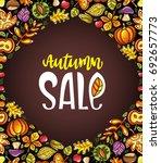vector autumn harvest festival... | Shutterstock .eps vector #692657773