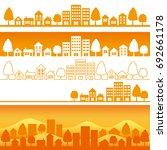 city at sunset. | Shutterstock .eps vector #692661178