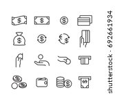 money icon  vector | Shutterstock .eps vector #692661934