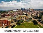 kansas city skyline  | Shutterstock . vector #692663530