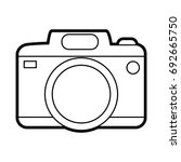 photographic camera icon image | Shutterstock .eps vector #692665750