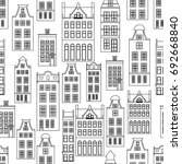 seamless pattern with amsterdam ... | Shutterstock .eps vector #692668840