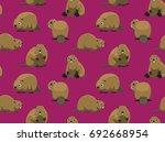 cute beaver pink wallpaper | Shutterstock .eps vector #692668954
