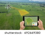 drone for agriculture  smart... | Shutterstock . vector #692669380