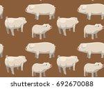 pig wallpaper brown landrace   Shutterstock .eps vector #692670088