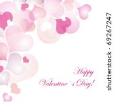 valentine s day card | Shutterstock .eps vector #69267247