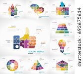business infographics pack with ... | Shutterstock .eps vector #692675614