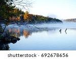 Morning fog on Table Rock Lake, Missouri