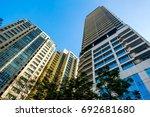 salcedo place buildings ... | Shutterstock . vector #692681680