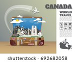 canada landmark global travel... | Shutterstock .eps vector #692682058