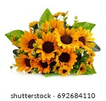 Artificial Sunflowers Isolated...