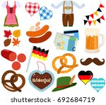 vector illustration set of cute ... | Shutterstock .eps vector #692684719