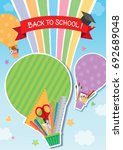 illustration vector of back to... | Shutterstock .eps vector #692689048