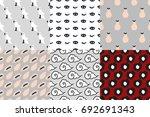 set of seamless pattern art... | Shutterstock .eps vector #692691343