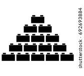 building block icon . | Shutterstock .eps vector #692693884