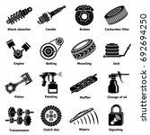 car repair parts icons set.... | Shutterstock .eps vector #692694250