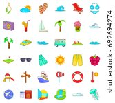 great vacation icons set.... | Shutterstock .eps vector #692694274