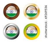 india shiny buttons flag with... | Shutterstock .eps vector #69269536
