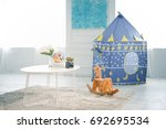 living area in kid room or... | Shutterstock . vector #692695534