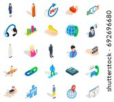 workforce icons set. isometric... | Shutterstock .eps vector #692696680