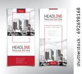 vertical banner vector... | Shutterstock .eps vector #692698168
