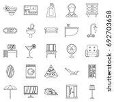 public house icons set. outline ... | Shutterstock .eps vector #692703658