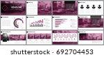 design element of infographics... | Shutterstock .eps vector #692704453