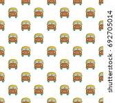 schoolbus pattern in cartoon...   Shutterstock .eps vector #692705014