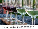 beautiful beverages   wine...   Shutterstock . vector #692705710