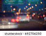 blur image of traffic jam on... | Shutterstock . vector #692706250