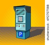 parking meter pop art style... | Shutterstock .eps vector #692707588