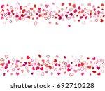 wedding invitation template.... | Shutterstock .eps vector #692710228