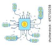 bitcoin concept vector... | Shutterstock .eps vector #692710258