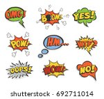 speech bubbles set. raster copy. | Shutterstock . vector #692711014