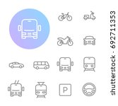 transportation icons   Shutterstock .eps vector #692711353