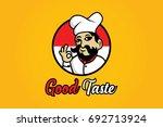 creative chef mascot concept... | Shutterstock .eps vector #692713924