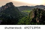 aerial view landscape mountain...   Shutterstock . vector #692713954