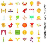 victory and award icons set.... | Shutterstock .eps vector #692713999