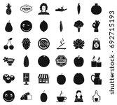 vegetarian kitchen icons set....   Shutterstock .eps vector #692715193