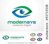 modern eye logo template design ... | Shutterstock .eps vector #692715538