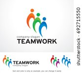 teamwork logo template design... | Shutterstock .eps vector #692715550