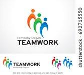 teamwork logo template design...   Shutterstock .eps vector #692715550
