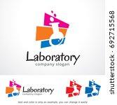laboratory logo template design ... | Shutterstock .eps vector #692715568