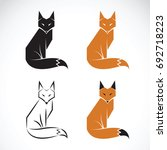 vector group of fox design on... | Shutterstock .eps vector #692718223