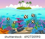 vector illustration of the sea... | Shutterstock .eps vector #692720593