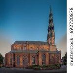 st. peter's is a lutheran...   Shutterstock . vector #692720878