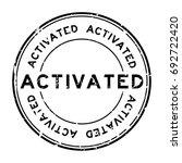 grunge black activated rubber... | Shutterstock .eps vector #692722420